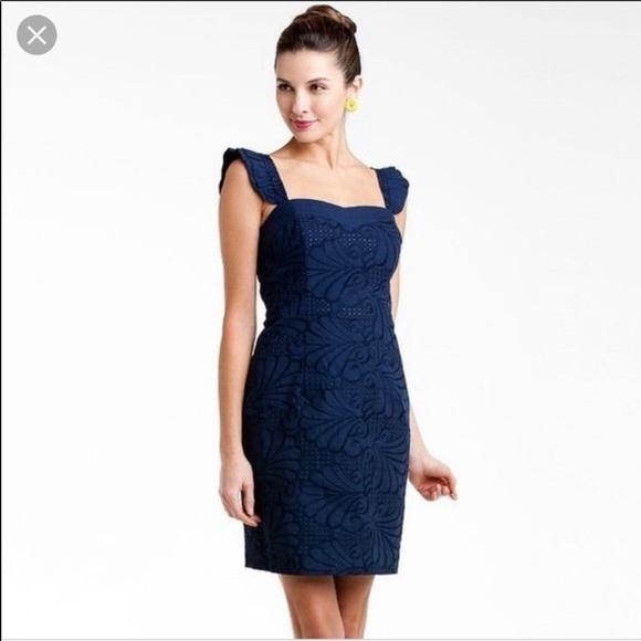 Lilly Pulitzer Dresses & Skirts - Lilly Pulitzer Navy Ruffle Sarafina Dress